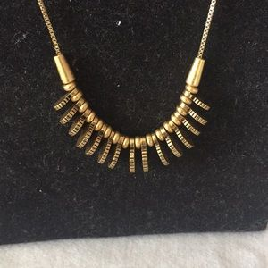 Madewell adjustable goldtone necklace